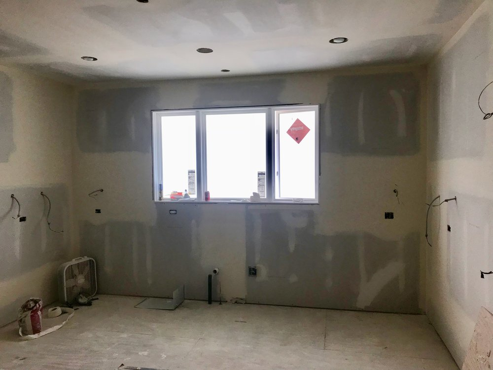 A clean slate for a kitchen is one of those sweet moments on a construction site. For us, at least.