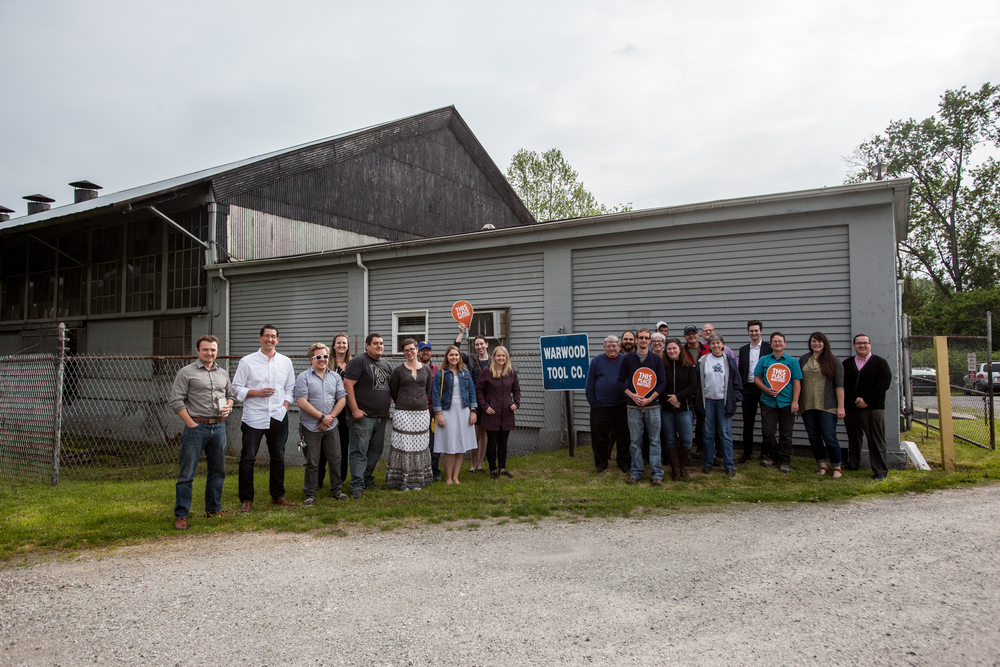 The Wheeling Young Preservationists toured Warwood Tool with Logan Hartle and Phillip Carl on May 17 as part of May's Preservation month activities.