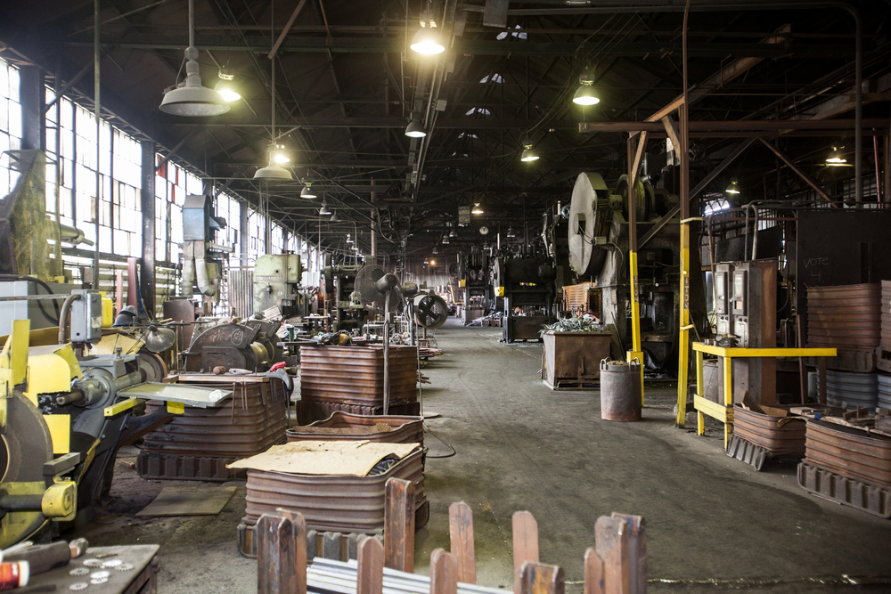 Entering into the factory is a little like stepping back in time.