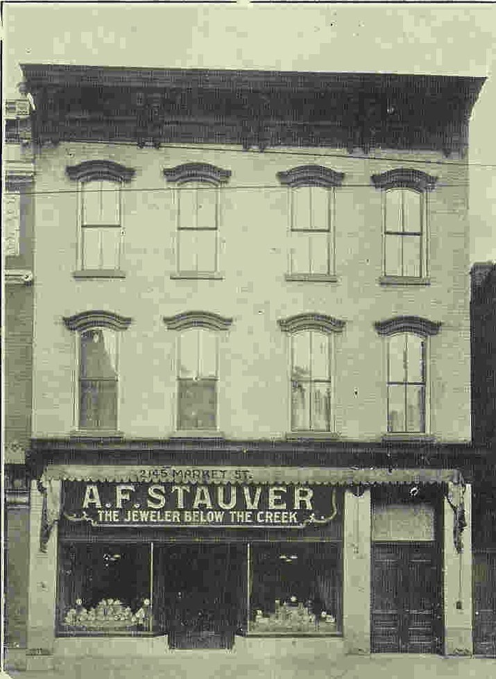 "The Stauver's maintained a jewelry store in the building after prohibition shut down the saloon business in town.  Their tag line was ""The Jeweler Below the Creek!"""