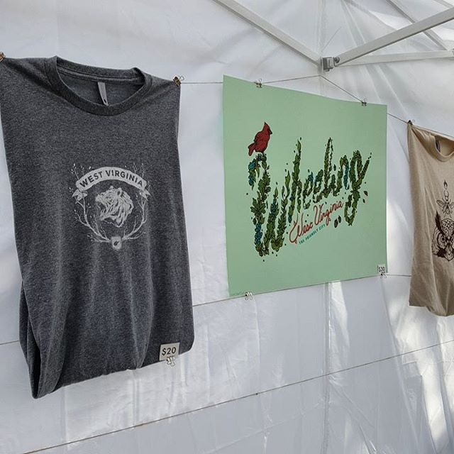 Stop by Logan Schmitt Illustration's booth to grab this great Wheeling print anf West Virginia shirt! #wheelove #wheelingfeeling #wheelingwv #gotowv #wyp #wheelingweekend
