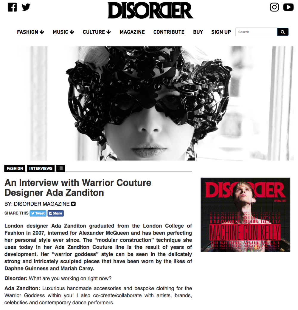 disordermagazineinterview