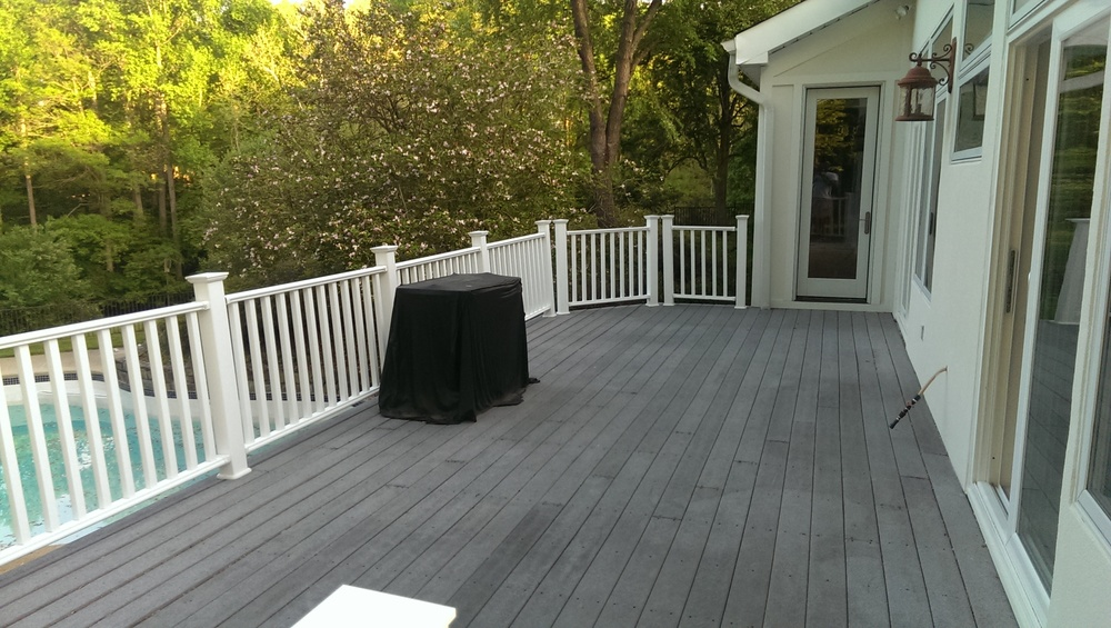 We dimension all exterior surfaces including decks and patios.