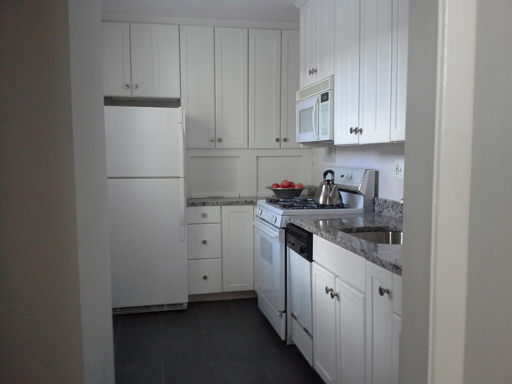 We locate all kitchen cabinets and appliances including refrigerators, sinks, islands and stoves.