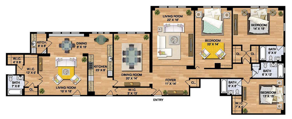 Three Bedroom - Apartment
