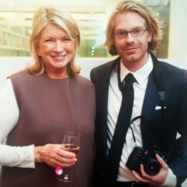 Jonathan and Martha Stewart at her studio in NYC.  In addition to shooting weddings, Jonathan also regularly shoots for national magazine and commercial clients. This work can bee seen at    www.jhansonphoto.com