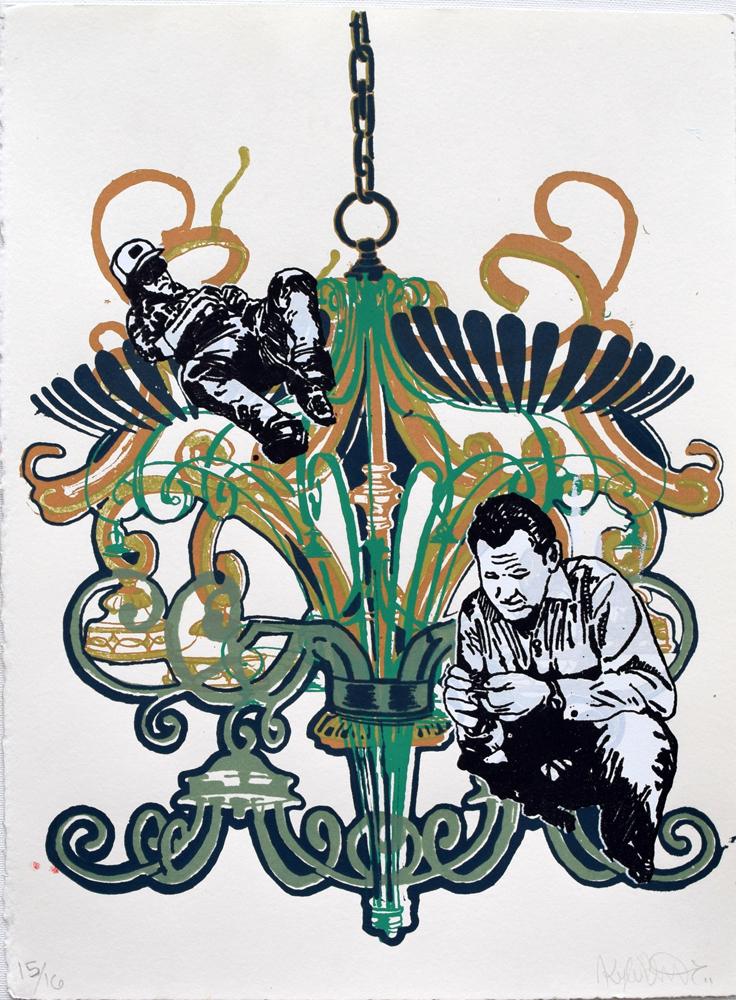 """Chandelier 1 Silkscreen Print, 2011 11"""" x 15"""""""
