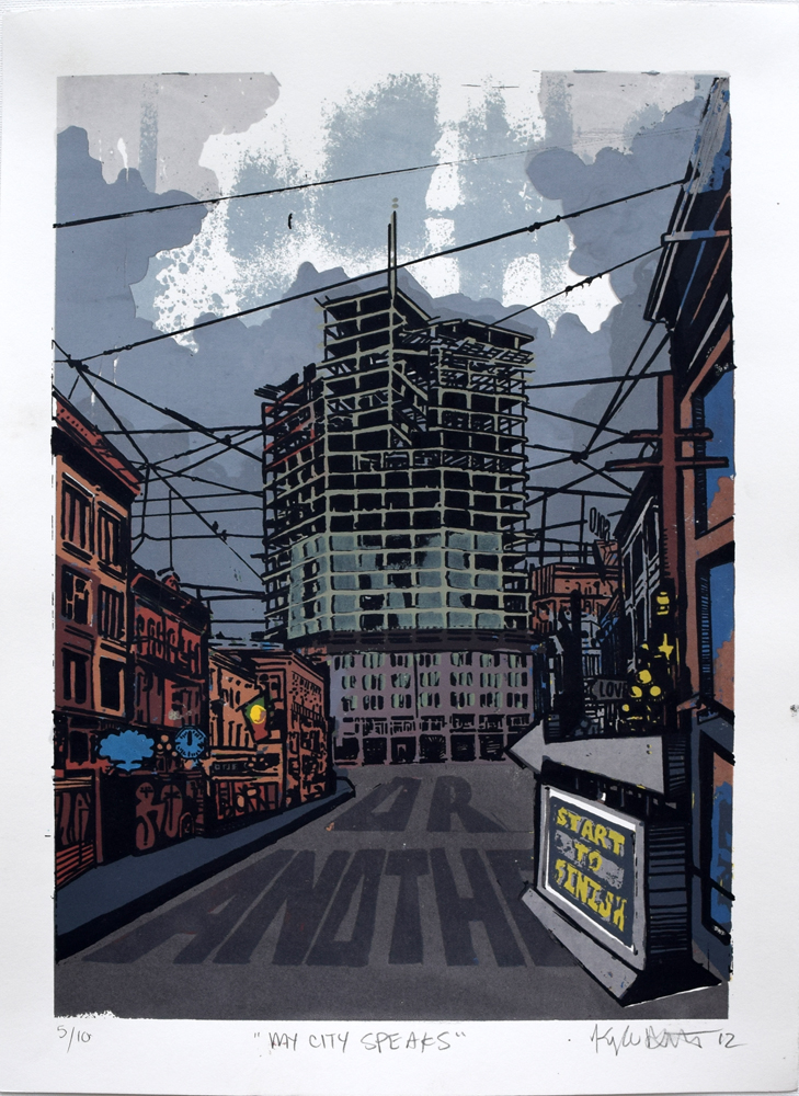 "My City Speaks Silkscreen Print, 2012 11"" x 15"""