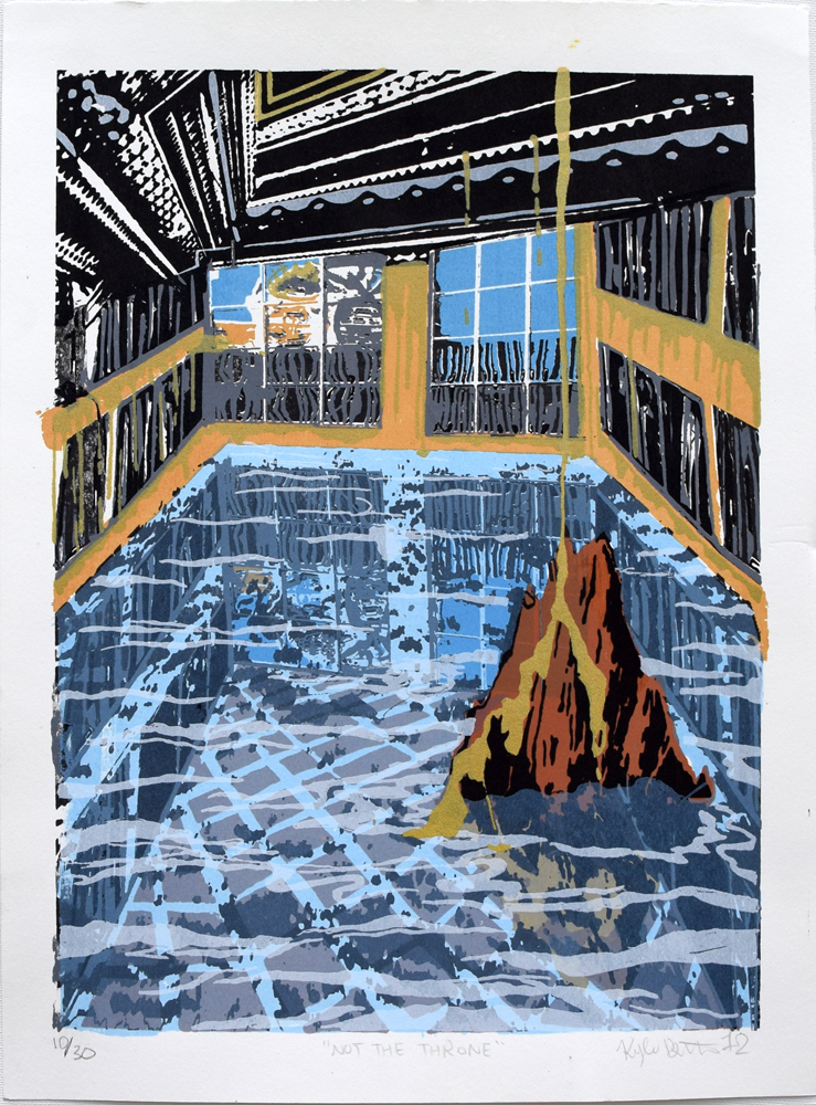 "Not The Throne Silkscreen Print, 2012 11"" x 15"""