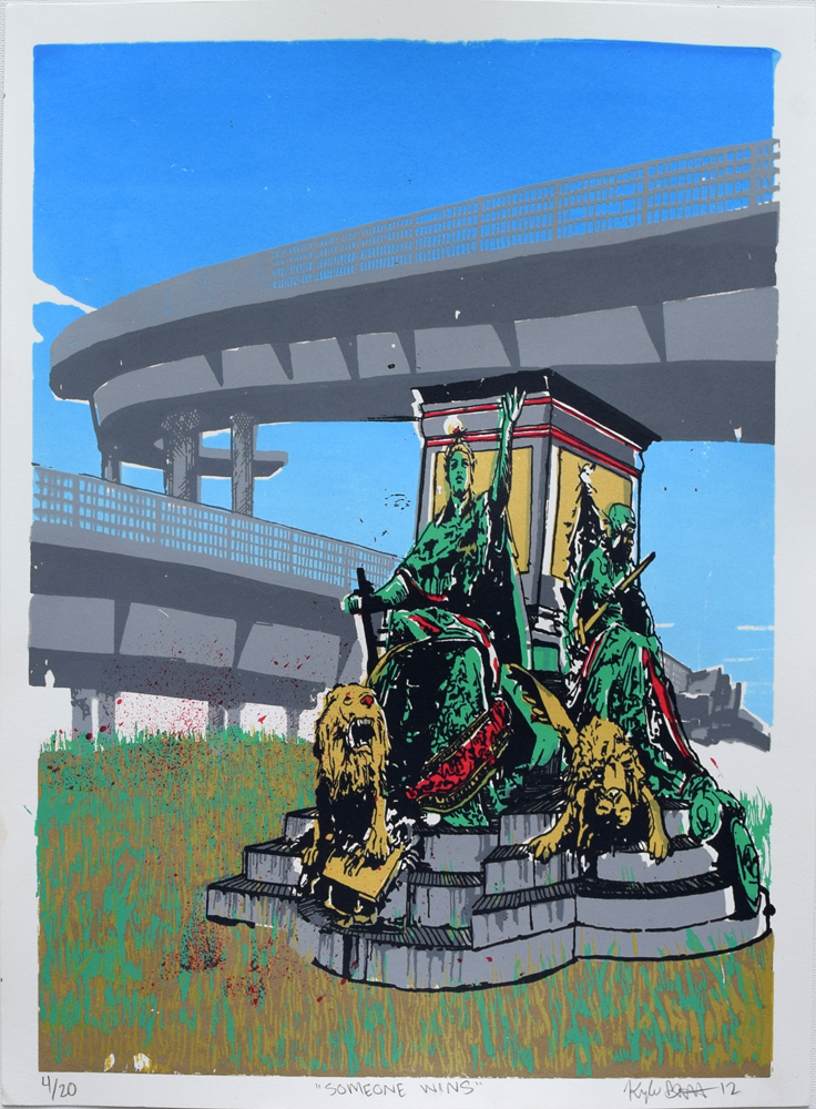 "Someone Wins Silkscreen Print, 2012  11"" x 15"""