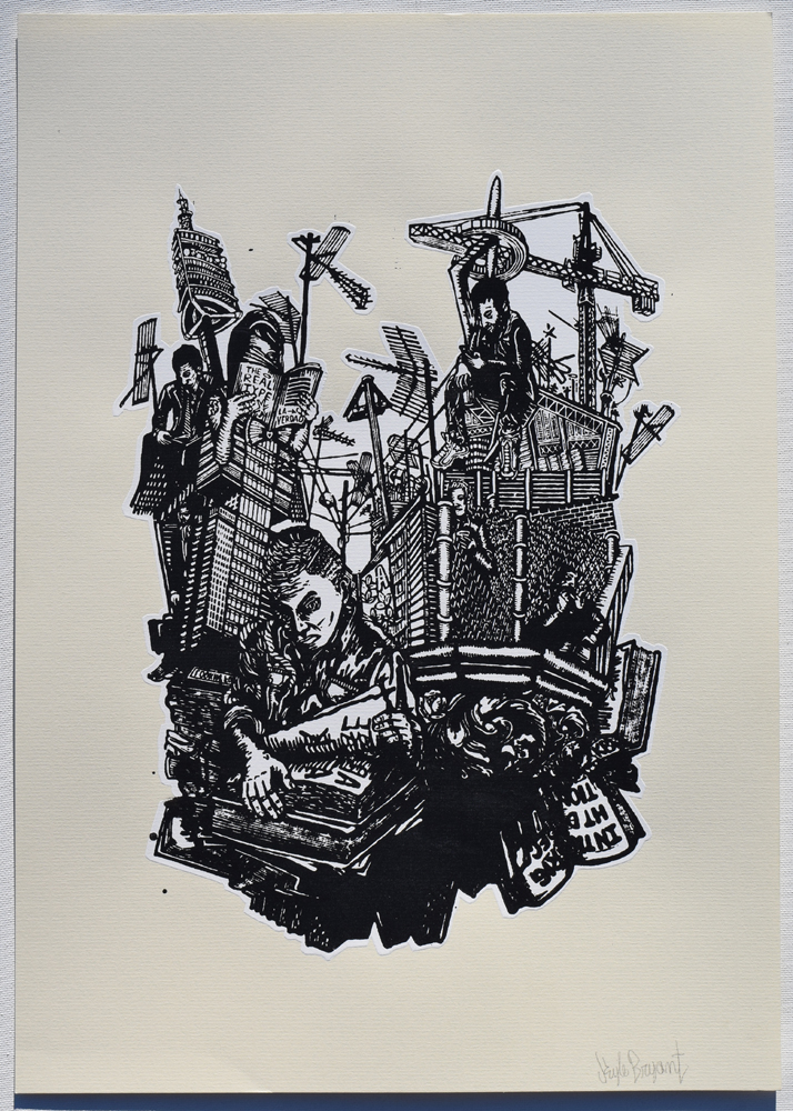 "Bibliographic Citations Noted Silkscreen Print, 2014 11"" x 15"""