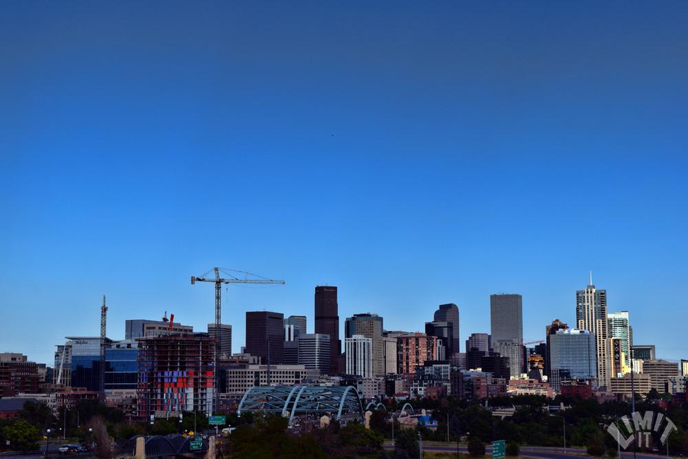 Denver's growing skyline from the Highlands neighborhood.