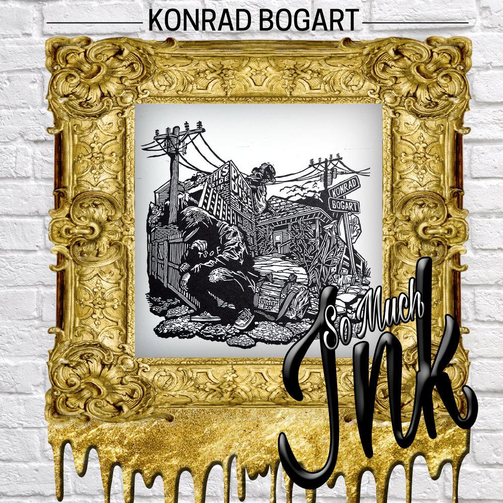 Konrad Bogart Kanye West Art Mixtape Cover fine art handmade woodblock print this side of paradise rap music