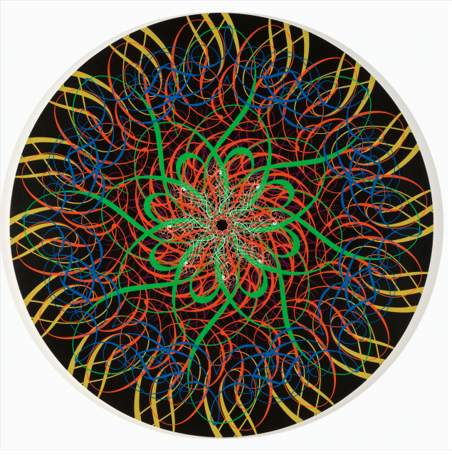 Untitled (BH48in.2) 2007 Silkscreen on wood panel 48 inches in diameter Edition of 7