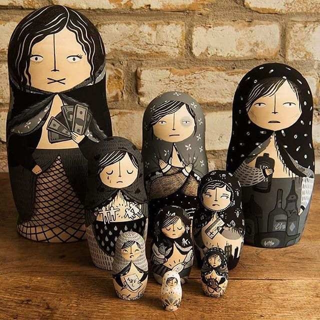 We're using these beautifully hand painted dolls to communicate dome of the #rootcauses of #humantrafficking