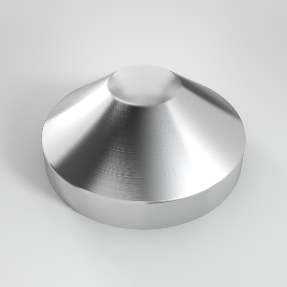 Aluminum half cone piling cap — willy s metal caps