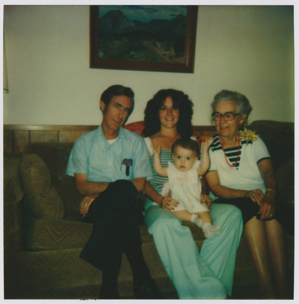 From left: my grandfather Lucien, my mom, me and my grandma Grace, ca. 1980.