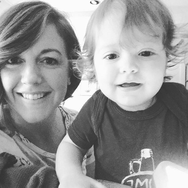 Jude and Mama (with new hair)