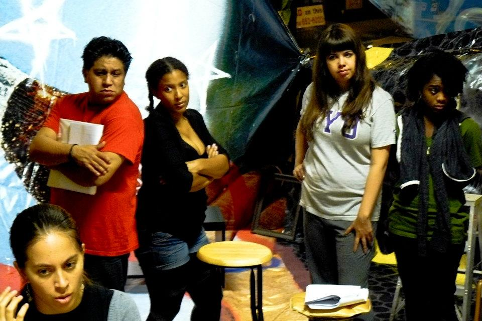 From left: jessica kadish, noe jara, kristiana colon, dyan flores, joanna middleton. foto by rafael franco (who was also in the cast, along with jazmin corona). this is from the run at the Hairpin arts center.