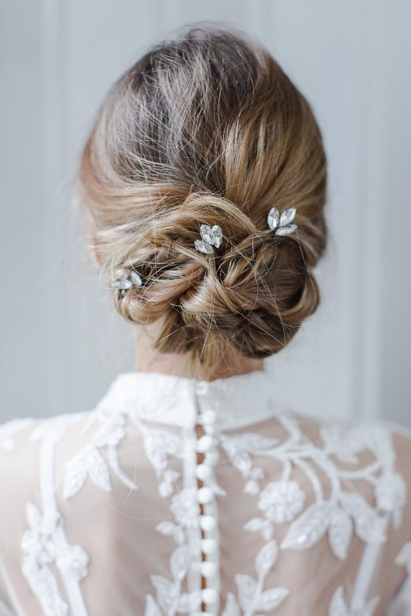 bridal wedding hair and wedding makeup essex training courses - team glam - clara small hair pin (set of 3)