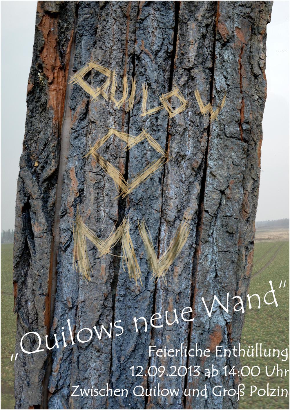 Plakatgestaltung Quilow
