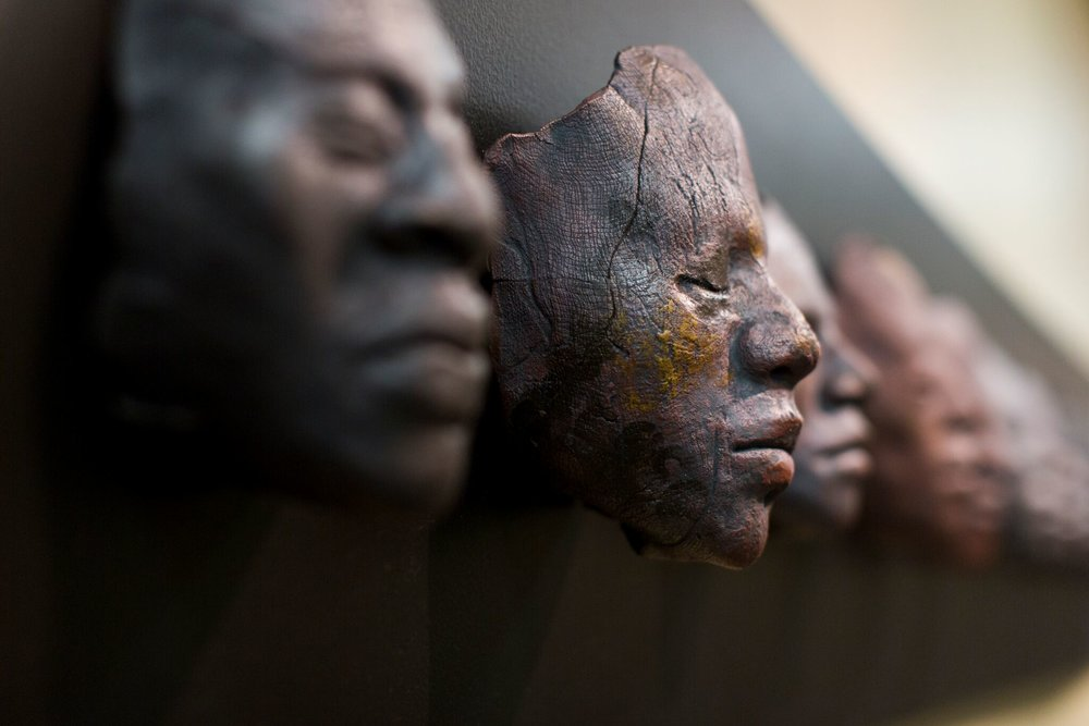 '108 Death Masks: A Communal Prayer for Peace and Justice' by Nikesha Breeze