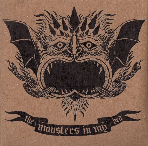 CD cover art for the Monsters in My Bed by Katy Otto 2014