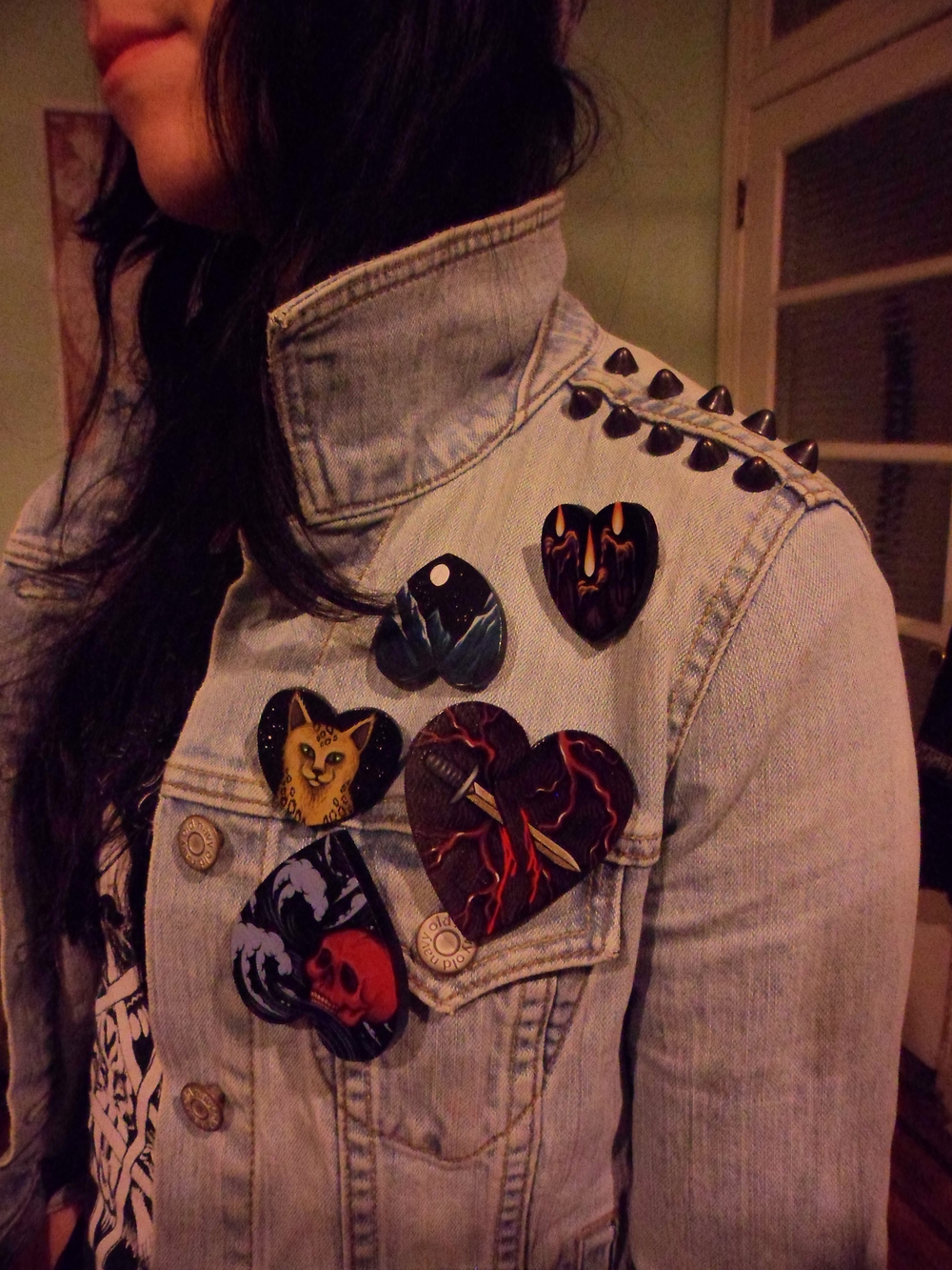 Painted pins