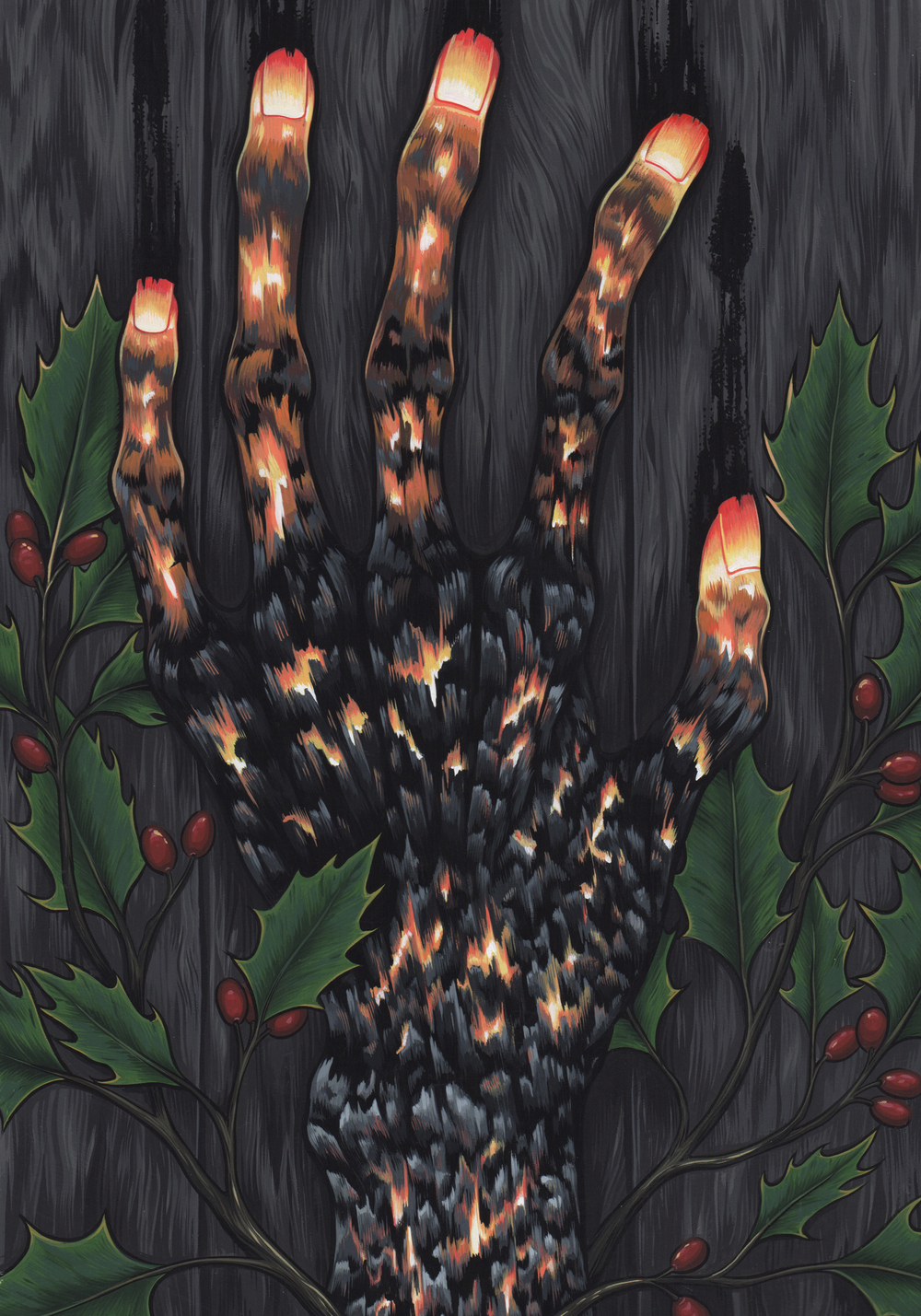 The Chimney- Commissioned work based on a short story by Ramsey Campbell, 2015  Gouache on paper