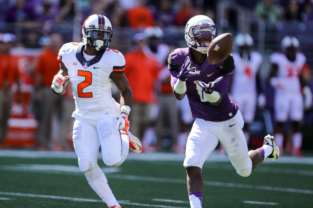 University of Washington Huskies Wide Receiver John Ross Reception Against Illinois Fighting Illini Cornerback