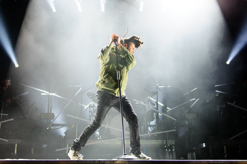 The Weeknd headlining at Bumbershoot Music Festival at Seattle Center Washington 2015