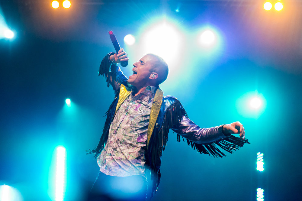 Tyler Glenn of Neon Trees at Bumbershoot Music Festival at Seattle Center Washington 2014