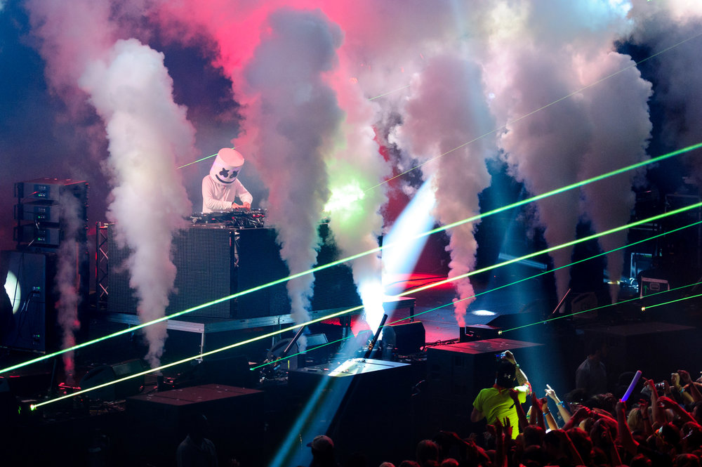 Marshmello at Bumbershoot Music Festival at Seattle Center Washington Key Area 2016