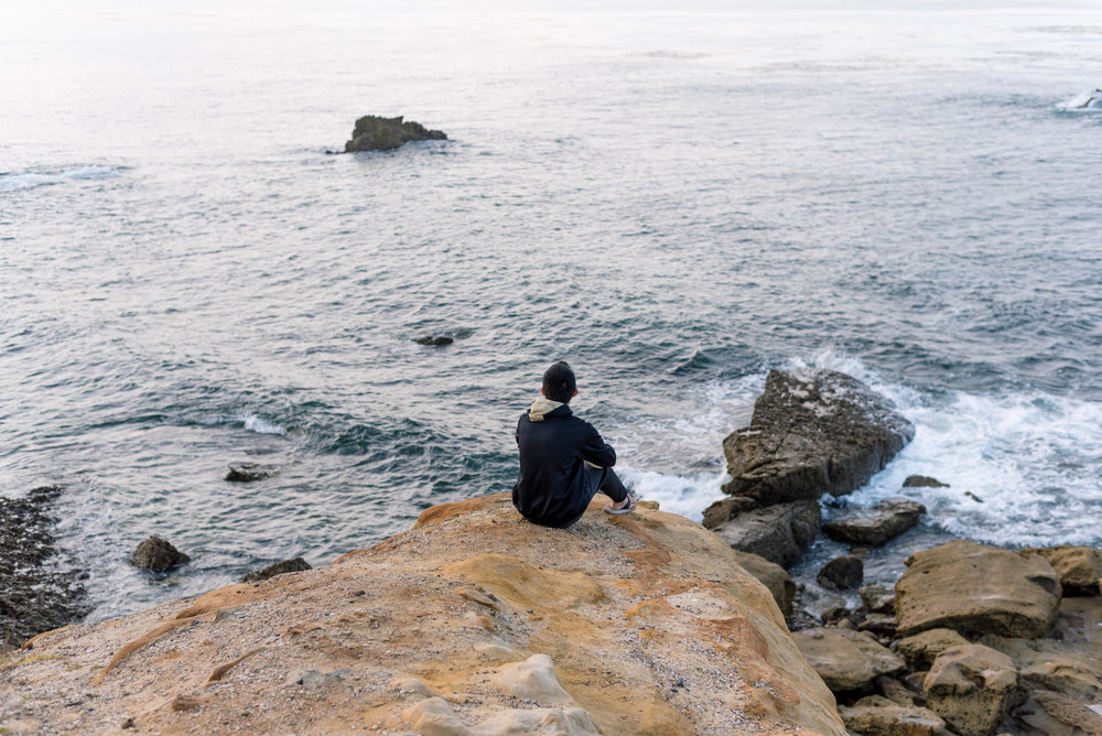 Sidiven Vang looks out on the Pacific Ocean from Newport Coast California