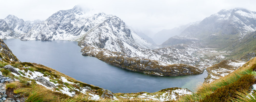 Lake Harris along the Routeburn Great Walk in Fiordland South Island New Zealand