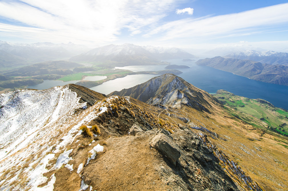 View from Roy's Peak in Wanaka South Island New Zealand