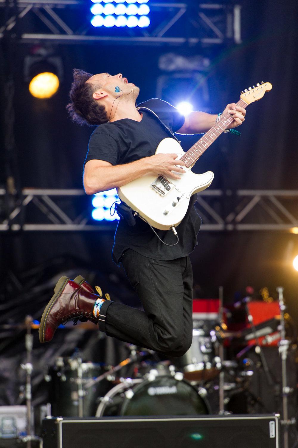 Keith Jeffery of Atlas Genius at Bumbershoot Music Festival at Seattle Center Washington 2016