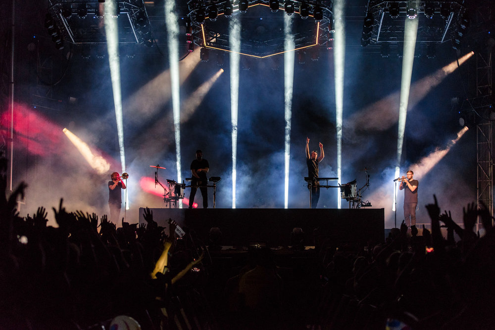 ODESZA headlining at Bumbershoot Music Festival at Seattle Center Washington 2017