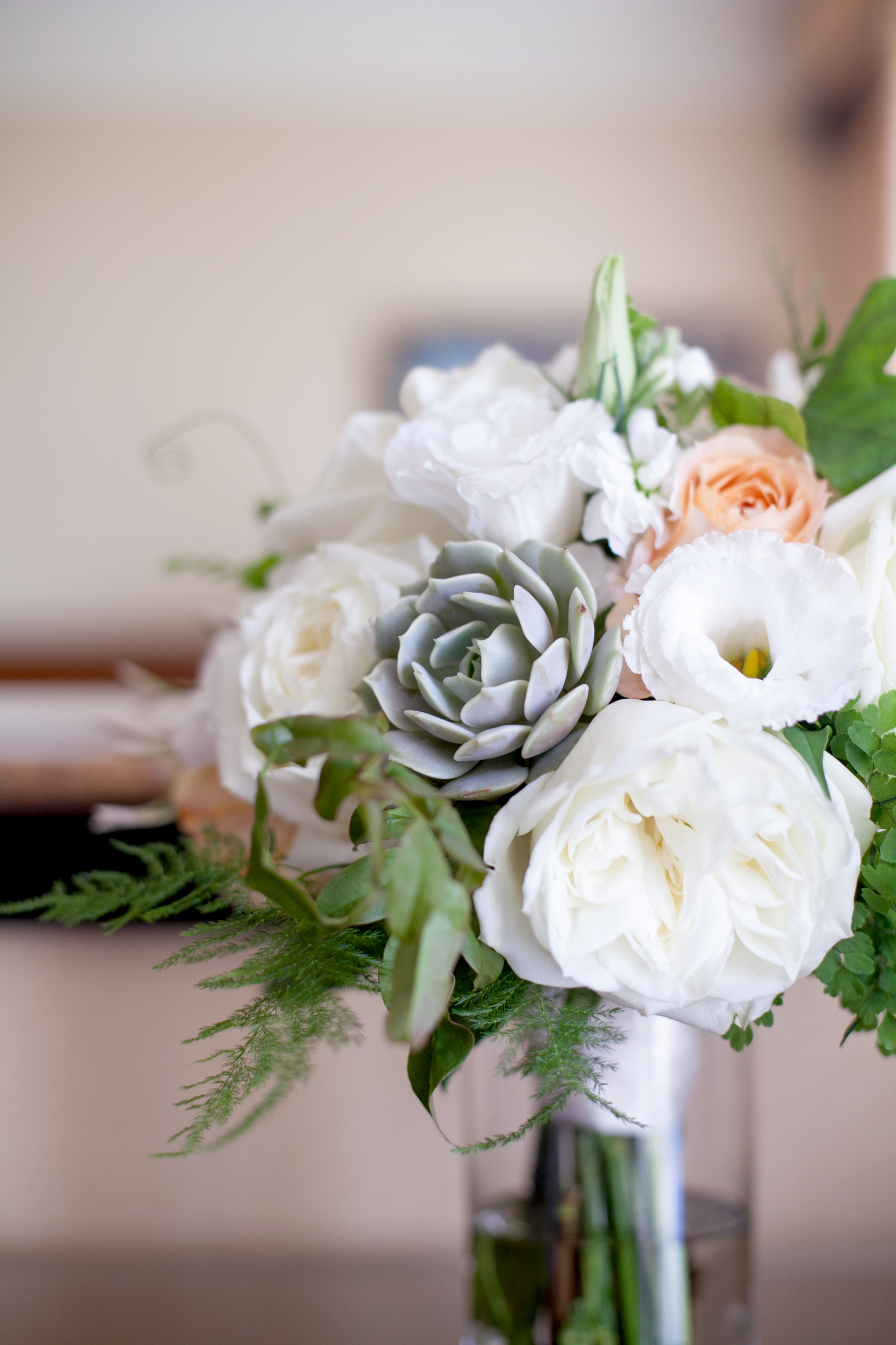 Meo Baaklini Photography//Mark Hopkins Hotel Wedding//Succulent Bridal Bouquet San Francisco Wedding