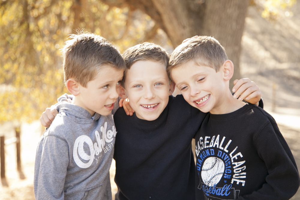 Triplet Boys Walnut Creek Borges Ranch Family Portraits