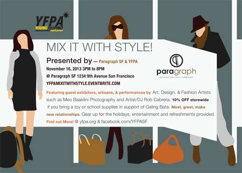 YFPA Paragraph SF November Mixer