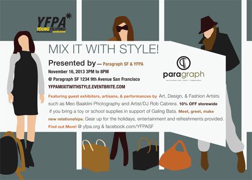 YFPA Paragraph SF November Mixer