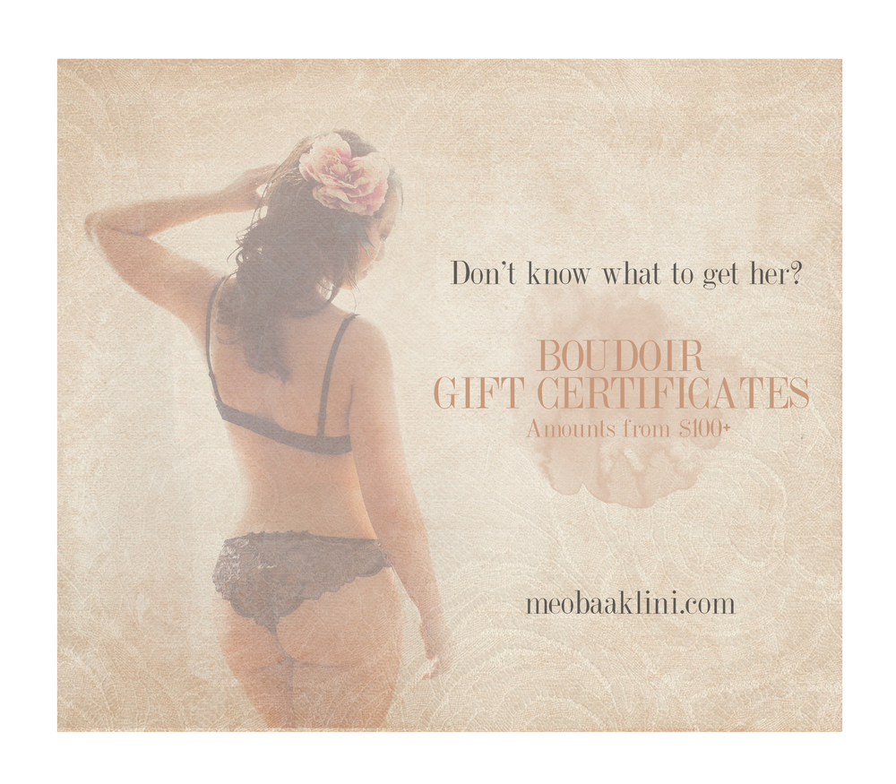 Boudoir Gift Ideas for Christmas/Meo Baaklini Photography