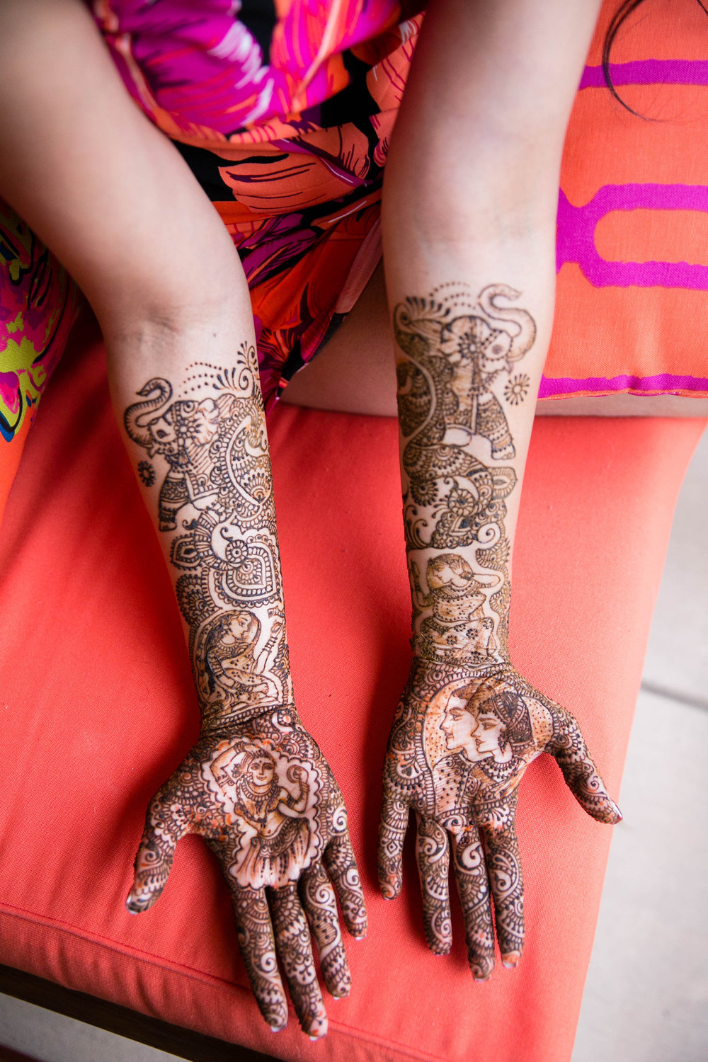 Intricate mehndi designs