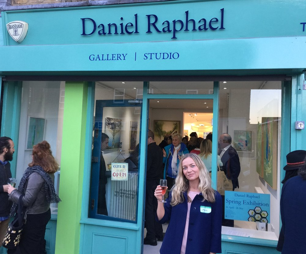 Opening night, Daniel Raphael Gallery