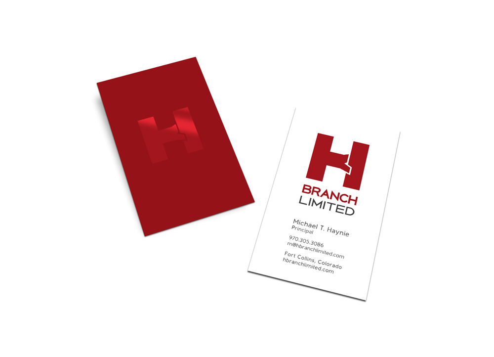 Business card design for H Branch LImited