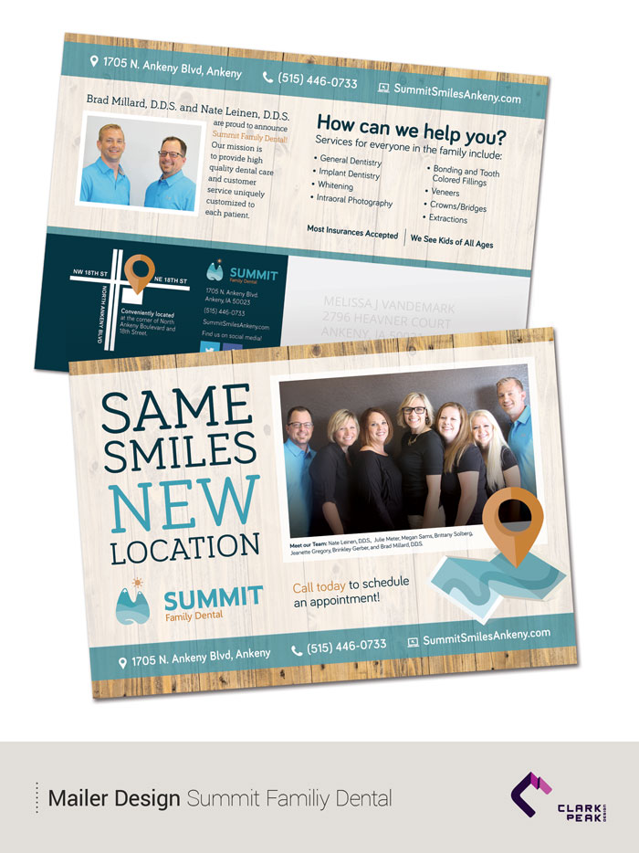 Mailer Design for Summit Family Dental by Clark Peak Design