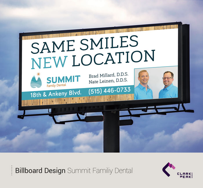 Billboard Design for Summit Family Dental by Clark Peak Design