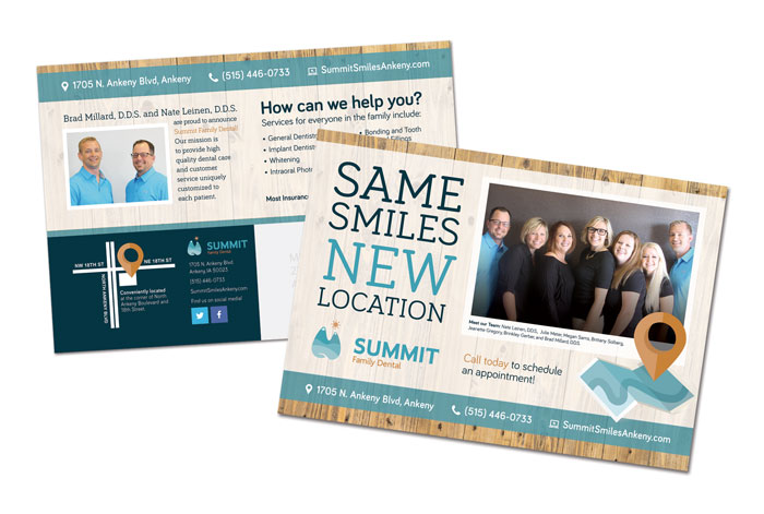 Mailer design for Summit Family Dental