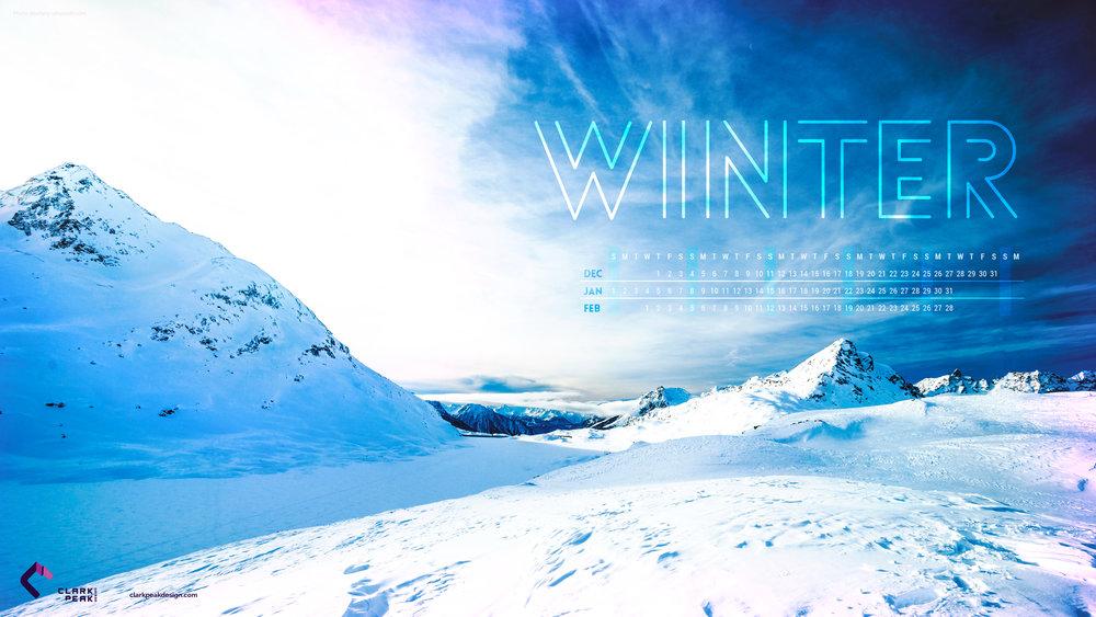 Free calendar wallpaper for Winter 2017
